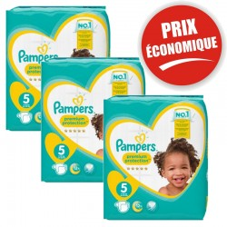 Pack jumeaux 748 Couches Pampers Premium Protection taille 5 sur Tooly
