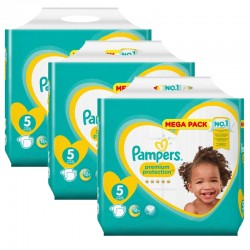 Pack jumeaux 816 Couches Pampers Premium Protection taille 5 sur Tooly