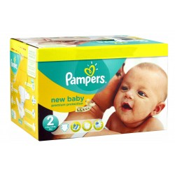 Mega pack 136 Couches Pampers New Baby Dry taille 2 sur Tooly
