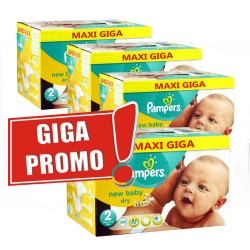 Giga pack 204 Couches Pampers New Baby Dry taille 2 sur Tooly