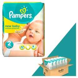 Pack jumeaux 544 Couches Pampers New Baby Dry taille 2 sur Tooly