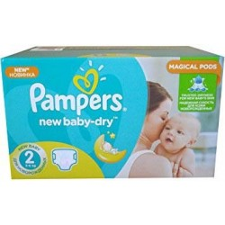 Pack jumeaux 680 Couches Pampers New Baby Dry taille 2 sur Tooly