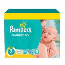 Pack jumeaux 816 Couches Pampers New Baby Dry taille 2 sur Tooly
