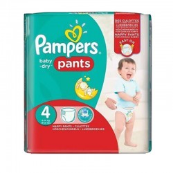 Pack 62 Couches Pampers Baby Dry Pants taille 4 sur Tooly