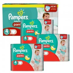Mega pack 124 Couches Pampers Baby Dry Pants taille 4 sur Tooly