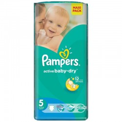 Pack 42 Couches Pampers Active Baby Dry taille 5 sur Tooly