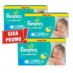 Pack 84 Couches Pampers Active Baby Dry taille 5 sur Tooly
