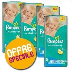 Mega pack 126 Couches Pampers Active Baby Dry taille 5 sur Tooly