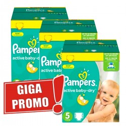 Mega pack 168 Couches Pampers Active Baby Dry taille 5 sur Tooly