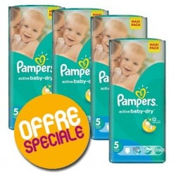 Giga pack 210 Couches Pampers Active Baby Dry taille 5 sur Tooly