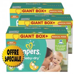 Maxi giga pack 378 Couches Pampers Active Baby Dry taille 5 sur Tooly