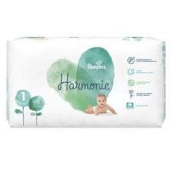 Pack 68 Couches Pampers Harmonie taille 1 sur Tooly