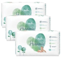 Maxi mega pack 408 Couches Pampers Harmonie taille 1 sur Tooly
