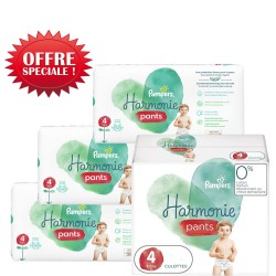 Mega pack 116 Couches Pampers Harmonie Pants taille 4 sur Tooly