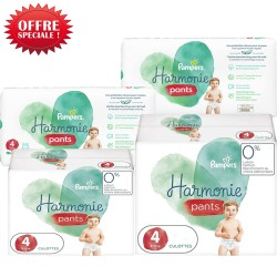 Mega pack 174 Couches Pampers Harmonie Pants taille 4 sur Tooly