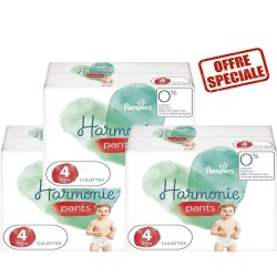 Giga pack 232 Couches Pampers Harmonie Pants taille 4 sur Tooly