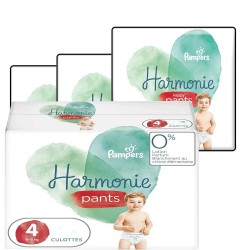Pack jumeaux 580 Couches Pampers Harmonie Pants taille 4 sur Tooly