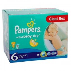 Giga Pack 144 couches Pampers Active Baby Dry sur Tooly