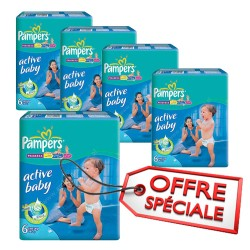Mega pack 192 Couches Pampers Active Baby Dry sur Tooly