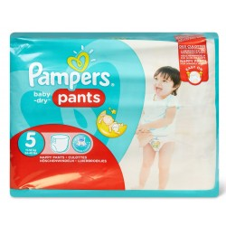 Pack 96 Couches Pampers Baby Dry Pants taille 5 sur Tooly