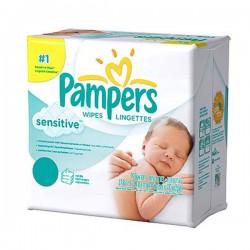 Pack économique de 648 Lingettes Bébés Pampers Sensitive - 12 Packs de 56 sur Tooly