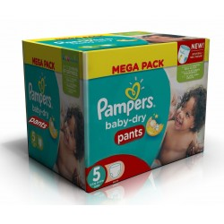 192 Couches Pampers Baby Dry Pants taille 5 sur Tooly
