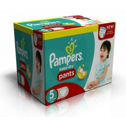 288 Couches Pampers Baby Dry Pants taille 5 sur Tooly