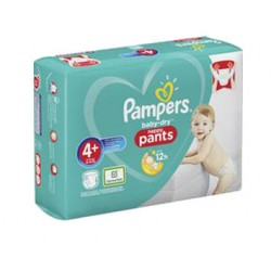 Pack 35 Couches Pampers Baby Dry Pants taille 4+ sur Tooly