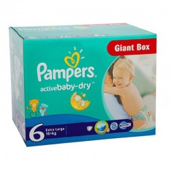 Giga pack 240 Couches Pampers Active Baby Dry taille 6 sur Tooly