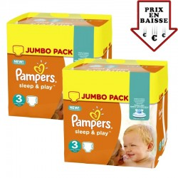 Pack jumeaux 780 Couches Pampers Sleep & Play taille 3 sur Tooly